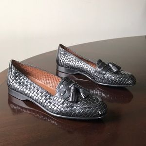 Woven blk Cole Haan Collection 6.5AA Penny Loafers
